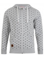 Tokyo Tiger Poker Dott Full Zip Men's Hoodie Light Grey