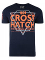Crosshatch Crew Neck Slinkz Print T-shirt Total Eclipse Blue