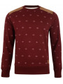 Smith & Jones Poker Dott Crew Neck Sweatshirt Burgundy