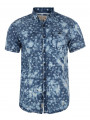 Soul Star Short Sleeve Pattern Shirt Faded Dark Blue