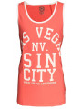 Soul Star Summer Vest Top Vegas Sin City Pink Coral