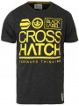 Crosshatch Crew Neck Print T-shirt Dark Grey