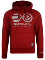 Crosshatch Reflective Logo Hoodie Red