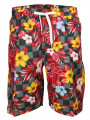 Soul Star Casual Floral Shorts Red