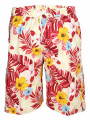 Soul Star Casual Floral Shorts Beige Red