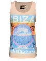 Soul Star Printed Summer Vest Top Ibiza Party People Salmon