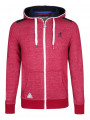Kangol Men's Gander Full Zip Hoodie Red Marl