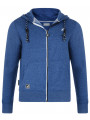 Kangol Men's Tronic Full Zip Hoodie Blue Marl