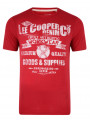 Lee Cooper Crew Neck Print T-shirt Red