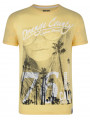 Soul Star Crew Neck Print T-shirt Cali Laguna Beach Yellow