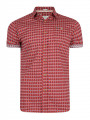 Lee Cooper Barling Short Sleeve Nordic Pattern Shirt Red