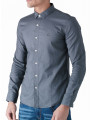 Duck and Cover Birch Long Sleeve Shirt Grey