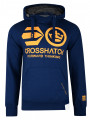 Crosshatch Blankouts Borg Lined Hoodie Estate Blue