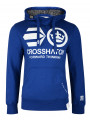 Crosshatch Blankouts Borg Lined Hoodie Mazarine Blue
