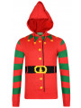Christmas Jumper 3D Hooded Elf Buddy Jacket Style Red