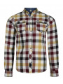 Lee Cooper Long Sleeve Check Shirt Ecru Beige