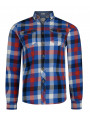 Lee Cooper Long Sleeve Check Shirt True Blue