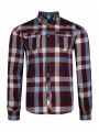 Lee Cooper Long Sleeve Check Shirt Truffle