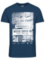 Jack & Jones Originals Crew Neck Hit 2 Print T-shirt Ensign Blue
