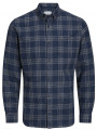 Jack & Jones Originals Wilhelm Check Long Sleeve Shirt Navy Blazer