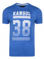 Kangol Handley Crew Neck Cotton Logo T-shirt Marine Marl