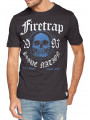 Firetrap Keyser Crew Neck Cotton Printed T-shirt Raven