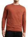 Lyle & Scott Cotton Merino Wool Jumper Brown Spice