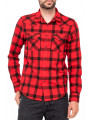 Lee Button Down Long Sleeve Check Shirt Warp Red