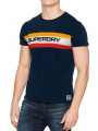 Superdry Chest Band Logo T-Shirt Three Pointer Navy