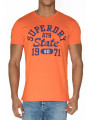 Superdry Upstate Wash Logo T-Shirt Campfire Orange