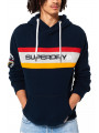 Superdry Trophy Chest Band Hoodie Three Pointer Navy