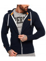 Superdry Orange Label Lite Zip Hoodie Three Pointer Navy