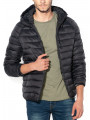 Jack & Jones Mesa Hooded Puffer Jacket Black