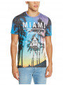 Firetrap Printed Summer T-Shirt Top Sunny Beach Party Miami