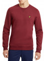 Lyle & Scott Crew Neck Plain Sweatshirt Claret Jug