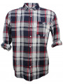 Soulstar Casual Long Sleeve Check Shirt Red