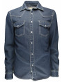 Soulstar Denim Long Sleeve Western Shirt Blue