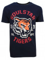 Soulstar Mereum Crew Neck Cotton Tiger T-Shirt Navy