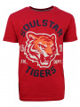 Soulstar Mereum Crew Neck Cotton Tiger T-Shirt Red