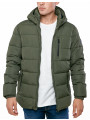 Broken Standard Matrix Hooded Puffer Jacket Khaki