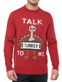 Christmas Jumper Talk Turkey To Me Red