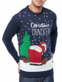 Christmas Jumper Santa Cracker Midnight Marl