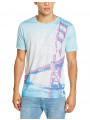 Firetrap Printed Summer T-Shirt Top Sunny Beach Party San Francisco