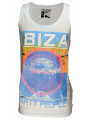 Soul Star Printed Summer Vest Top Ibiza Party People Sky Blue