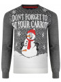 Christmas Jumper Funny Crew Neck Carrots Snowman Slate Marl