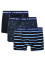 French Connection Men's Boxer Shorts Marine Pattern x 3 Pack