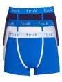 French Connection FCUK Boxer Shorts Blue White 3 Pack