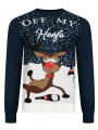 Christmas Jumper Funny Crew Neck Off My Hoofs French Navy