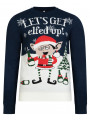 Christmas Jumper Funny Crew Neck Elfed Up French Navy
