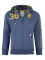 Crosshatch Trojans Full Zip Hoodie Vintage Blue